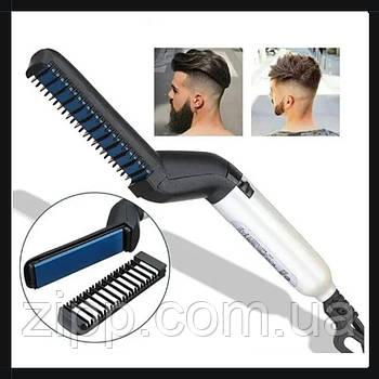 Випрямляч для бороди і волосся NJ-109| Праска-випрямляч для бороди і волосся