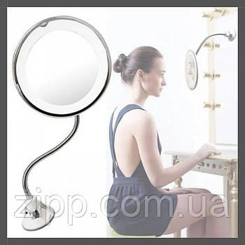 Зеркало для макияжа c LED подсветкой Ultra Flexible Mirror DL22  Зеркало для макияжа с подсветкой