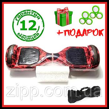 Гироскутер 6,5 дюймов Smart Balance Elite Lux красный до 120 кг  Гироборд с колонкой и с подсветкой колес