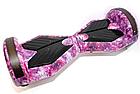 Гироборд 8 дюймів Smart Balance рожевий космос| Гироборд з колонкою і з підсвічуванням коліс, фото 2