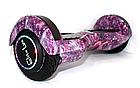 Гироборд 8 дюймів Smart Balance рожевий космос| Гироборд з колонкою і з підсвічуванням коліс, фото 3