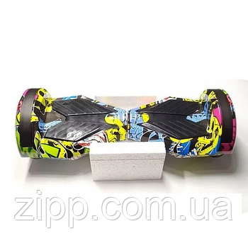 Гироборд 8 дюймов Smart Balance Hip-Hop Графити  Гироборд с колонкой и с подсветкой колес