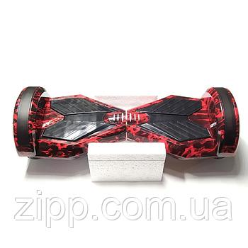 Гироборд 8 дюймів Smart Balance Elite Lux червоне полум'я| Гироборд з колонкою і з підсвічуванням коліс