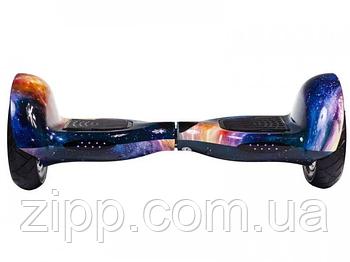 Гироборд 10 дюймов Smart Balance Elite Lux Рэд Скай  Гироборд с колонкой и с подсветкой колес