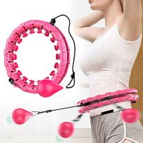 Умный обруч для талии с счетчиком Magic Smart Circle EL-1119 Pink, фото 2