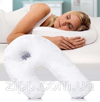 Ергономічна подушка Side Sleeper Pro| Ортопедична подушка для сну| Подушка з отвором для вуха