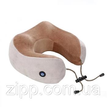 Масажна подушка для шиї з пам'яттю U-Shaped Upgrade Vibration Pillow| Подушка з пам'яттю| Масажер-подушка