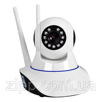 IP камера видеонаблюдения Q5 - на 2 антены  Беспроводная поворотная WIFI IP камера   камера видеонаблюдения