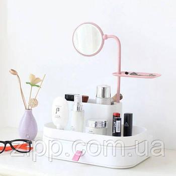 Органайзер для косметики з дзеркалом 7009| Підставка-органайзер для косметики| Органайзер для косметики