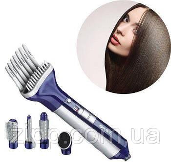 Фен Gemei GM-4834 6 в 1 для волос| Фен-щетка-расческа для волос| Прибор для укладки волос| Фен с насадками