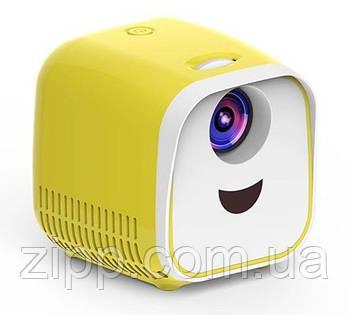 Детский мини проектор YOGA L1 Бело-Желтый| Домашний кинотеатр| Проектор для дома