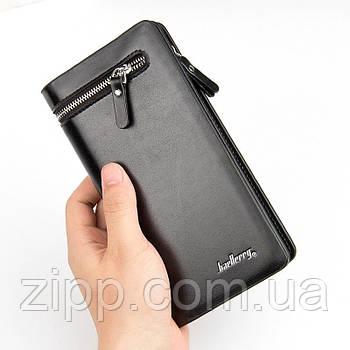 Мужское портмоне клатч Baellerry Italia  Мужской кошелек  Мужской черный кошелек