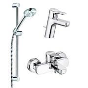 Набор смесителей для ванны и душа Kludi Pure Easy 3в1,хром (376850565)