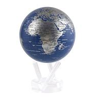 """Глобус самовращающийся левітує Mova Globe """"Політична карта"""", чорний, діаметр 114 мм (США)"""