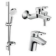 Набор смесителей для ванны, умывальник Hansgrohe Logis Loop 70 (71150000+71244000+26553400)
