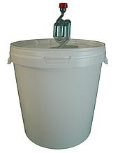 Ємність для бродіння (ферментер) 33 л. + гідрозатвор