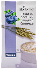 Каша из овсяных отрубей  Fito Forma без сахара с Черникой (40 грамм)