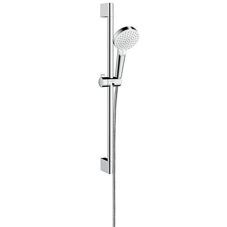 Душевой набор Hansgrohe Crometta Vario 65 EcoSmart 9л/мин, белый/хром (26534400)