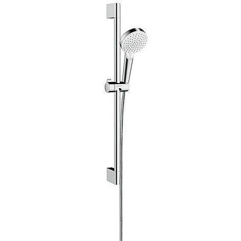 Душевой набор Hansgrohe Crometta Vario 65 EcoSmart 9л/мин, белый/хром (26534400), фото 2