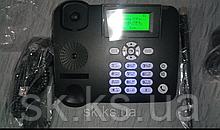 Стаціонарний gsm телефон sertec zt1800 2 сім карти російське меню, швидкий набір , підсвітка кнопок
