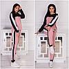 Стильний, модний жіночий трикотажний спортивний костюм з лампасами (р. 42-52). Арт-4415/33