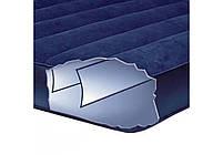 Надувний матрац Intex 64757 одномісний для будинку і пляжу 99x191x25 см, односпальний матрац темно синій, фото 5