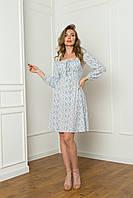 Цветочное платье с открытыми плечами, фото 1