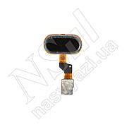 Кнопка Home MEIZU M3S (версия VGS) черная на шлейфе (Б/У)