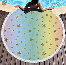 Пляжный круглый коврик