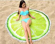 Пляжний килимок круглий