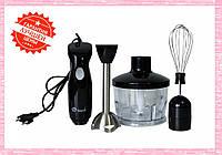Ручной погружной блендер Domotec MS 5103 3в1 | Кухонный измельчитель Домотек