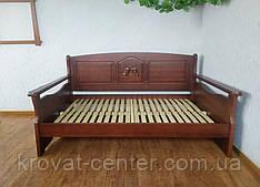 """Полуторний диван ліжко з масиву дерева """"Орфей Преміум"""" від виробника"""