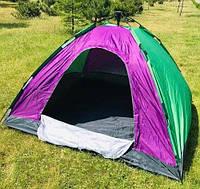 Палатка-автомат 6-местная 230х230х150 см, семейная шестиместная палатка автоматическая для туризма