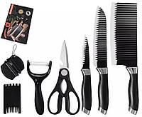 Набір кухонних ножів EVERWAALTH з нержавіючої сталі, 7 в 1., фото 1