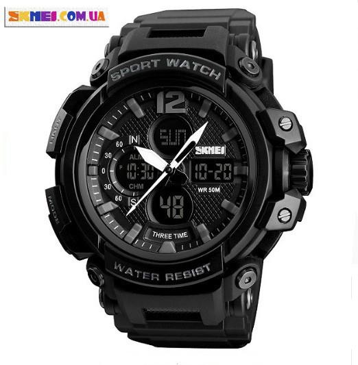 Чоловічий наручний годинник Skmei 1343 (Black)