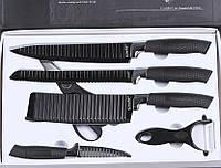 Стильний набір кухонних рифлених ножів з антибактеріальним покриттям 6 в 1 Zepter, фото 1