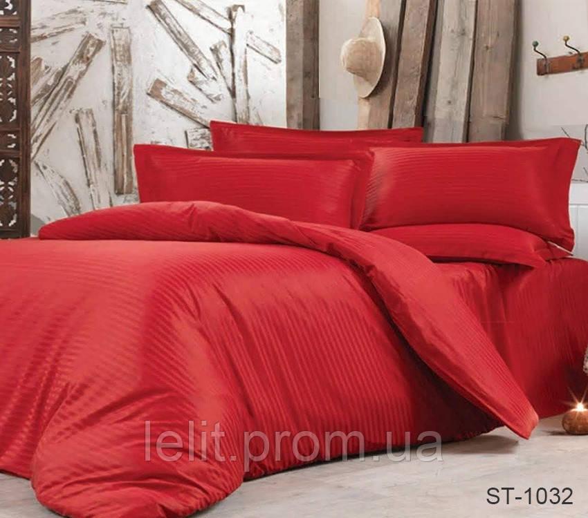 Семейный комплект постельного белья Страйп-Сатин LUXURY ST-1032