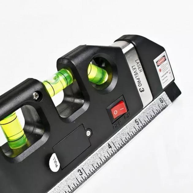 Лазерный уровень Laser Level Pro 3 со встроенной рулеткой