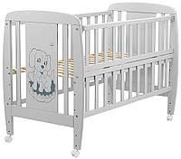 Ліжко Babyroom Собачка відкидний бік, колеса DSO-01 бук сірий, фото 1