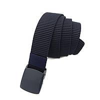 Синій джинсовий ремінь текстиль унісекс Арт.А9-40-4-4(1) Lers (Україна)