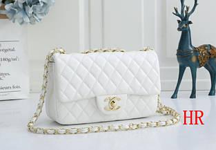 Сумка в стиле Шанель 23см / эко-кожа (0320) Белый