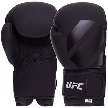 Перчатки боксерские PU на липучке UFC Tonal (PU, р-р 14 унции, черный)