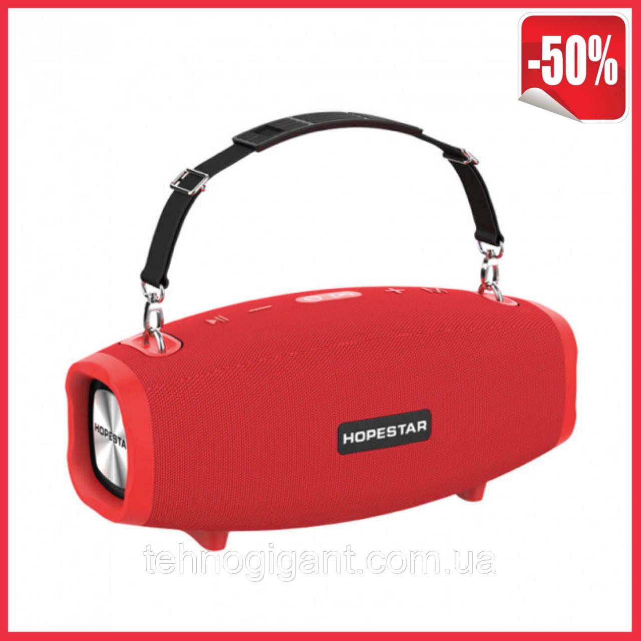 Портативная колонка Hopestar H41, стерео колонка Bluetooth c пыле-влагозащитой, беспроводная Красный