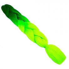 Канекалон двухцветный омбрэ, 60 см, зеленый-салатовый