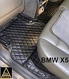 Коврики BMW X6 F16 Кожаные 3D (2014-2019) с текстильными накидками, фото 9