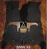 Коврики BMW X6 F16 Кожаные 3D (2014-2019) с текстильными накидками, фото 10