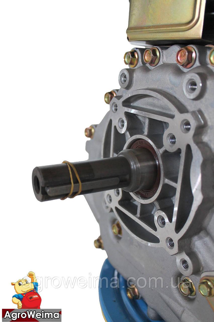 Дизельный двигатель - Шлиц.Grunwelt186 FB-W  для1100 (вал ШЛИЦЫ), 418cc/диз 9,5л.с. Ручной стартер