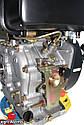 Дизельный двигатель - Шлиц.Grunwelt186 FB-W  для1100 (вал ШЛИЦЫ), 418cc/диз 9,5л.с. Ручной стартер, фото 9