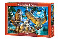 "Пазли 500 ел. Castorland ""Owl Family"" 53322"