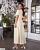 Женское батальное платье однотонное за запах, большой размер 48 50 52 54 56 58 60 62, фото 3